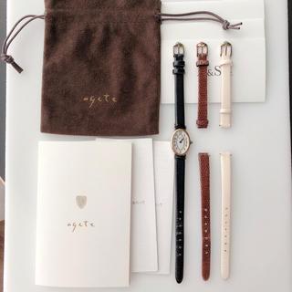 アガット(agete)のagete腕時計 替えベルト3本セット 稼働中(腕時計)