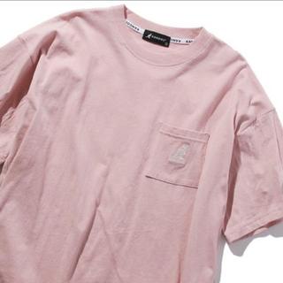 カンゴール(KANGOL)の新品】KANGOL ワンポイントTシャツ ピンク M(Tシャツ/カットソー(半袖/袖なし))