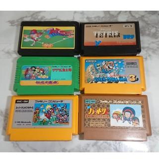 ファミリーコンピュータ(ファミリーコンピュータ)のファミコン ソフト 6本セット(家庭用ゲームソフト)