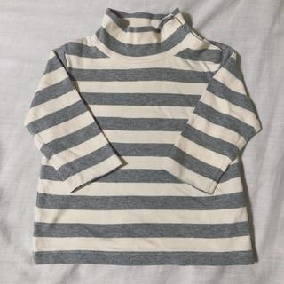 ムジルシリョウヒン(MUJI (無印良品))の無印良品 80cm タートル ボーダー 綿100%(Tシャツ)