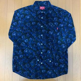 Supreme - Supreme 2018FW Rose Corduroy Shirt 青 M