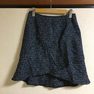 スコットクラブ(SCOT CLUB)の●グランドテーブル ツイード  フレアスカート  日本製(ひざ丈スカート)