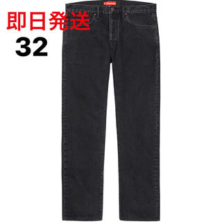 Supreme - 32inch Stone Washed Black Slim Jean