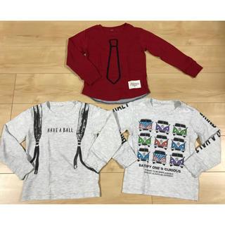 【中古】男の子 長袖Tシャツ ロンT 3点セット 110