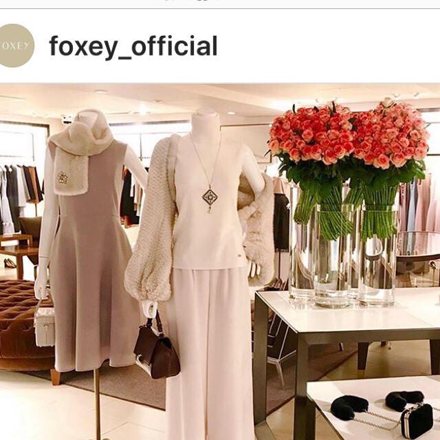 FOXEY(フォクシー)の🌸美品🌸 FOXEY ネックレス  Crystal lace レディースのアクセサリー(ブローチ/コサージュ)の商品写真