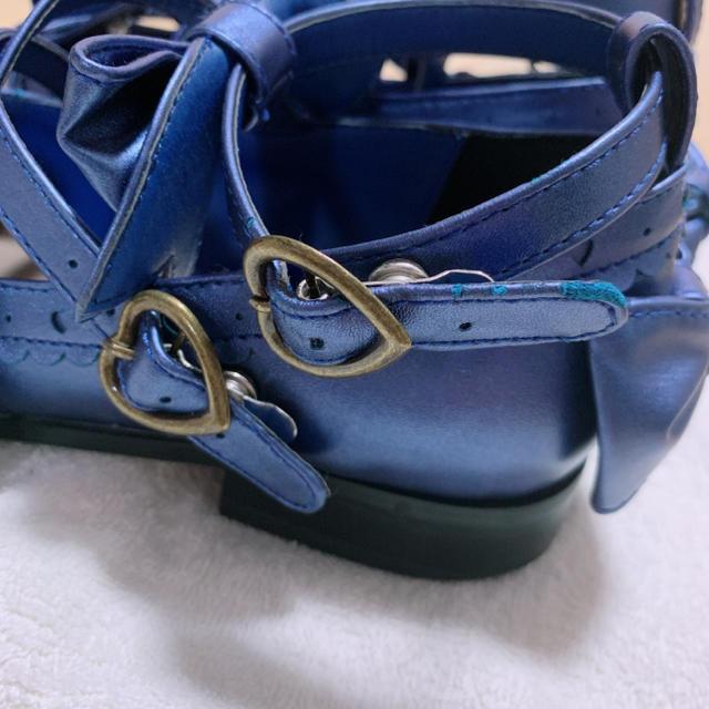 metamorphose temps de fille(メタモルフォーゼタンドゥフィーユ)のトリプルリボンパンプス ネイビー M レディースの靴/シューズ(ハイヒール/パンプス)の商品写真