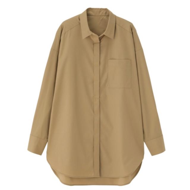 GU(ジーユー)のGU オーバーサイズ チュニックシャツ レディースのトップス(シャツ/ブラウス(長袖/七分))の商品写真