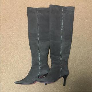 アバハウス(ABAHOUSE)のREVISITATION スエード ニーハイブーツ 24.5cm(ブーツ)