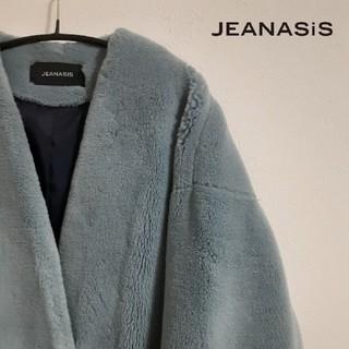 ジーナシス(JEANASIS)のJEANASIS ジーナシス ボリュームファー ノーカラーコート(ロングコート)