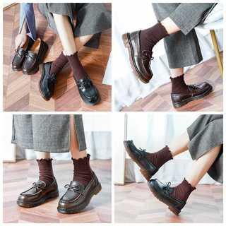 ローファー革靴 レディース夏春秋本革歩きやすい学生リボン DS0459(ローファー/革靴)