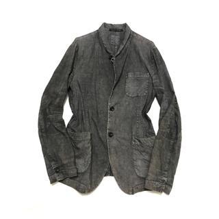 リックオウエンス(Rick Owens)のHANNES ROETHER Faded silk&linen jkt(テーラードジャケット)