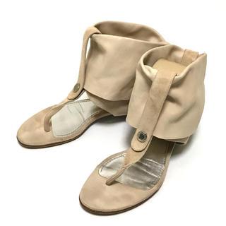 ディーアンドジー(D&G)のDOLCE&GABBANA Suède draped sandal 36(サンダル)