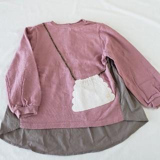 petit main - プティマイン バックモチーフ長袖Tシャツ 110