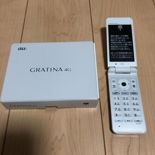 エーユー(au)のグラティーナ4G au(携帯電話本体)
