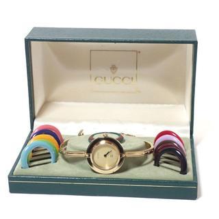Gucci - AA322 GUCCI グッチ 1100-L チェンジベゼル 時計 金文字盤