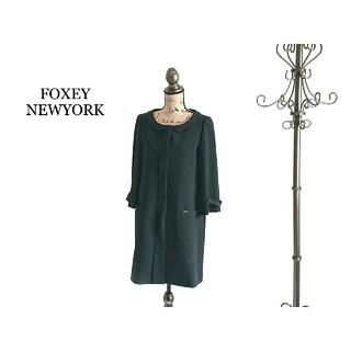 フォクシー(FOXEY)のFOXEY NEWYORK フォクシー ロングコート レディース ブラック(ロングコート)