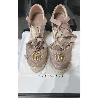 グッチ(Gucci)のGUCCI GG マーモンドキャンバス エスバドリール ウェッジ (ハイヒール/パンプス)