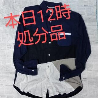 ザショップティーケー(THE SHOP TK)のネルシャツ 紺地 切り替え(シャツ/ブラウス(長袖/七分))