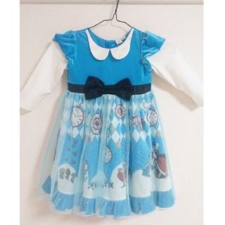 Disney - ディズニー  不思議の国のアリス  秋冬用 長袖ドレス  100㎝