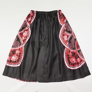 COMME des GARCONS - トリコ コムデギャルソン サテン フローラル フレア スカート フラワー 花柄