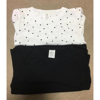 エイチアンドエム(H&M)のH&M  ロンT2枚セット!90cm新品(Tシャツ/カットソー)
