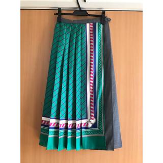 MACPHEE - マカフィー スカーフモチーフ ラッププリーツスカート
