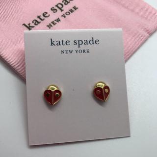 kate spade new york - 新品!ケイトスペード テントウムシ ピアス