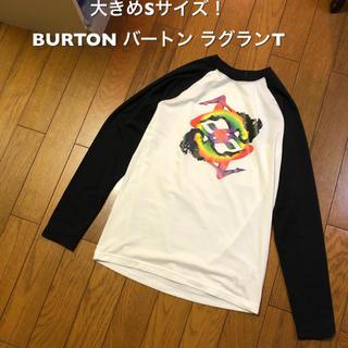 バートン(BURTON)の大きめSサイズ! BURTON バートン 古着長袖ラグランTシャツ ビッグ(Tシャツ/カットソー(七分/長袖))