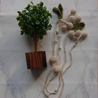 フェリシモ(FELISSIMO)のネックレス 手編み 可愛い ワンポイント(ネックレス)