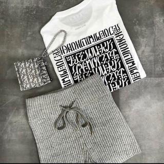ALEXIA STAM - 【新品】Juemi・macciu typo Tee white 白Tシャツ