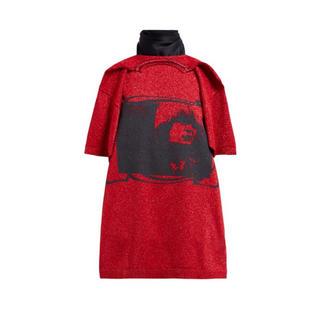 ラフシモンズ(RAF SIMONS)の【RAF SIMONS】定価 :¥44,000円 プリントスカーフTシャツ(Tシャツ/カットソー(半袖/袖なし))