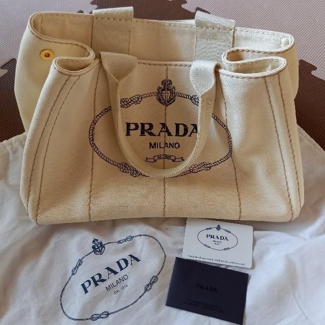 PRADA(プラダ)のプラダ PRADA カナパ オフホワイト レディースのバッグ(トートバッグ)の商品写真