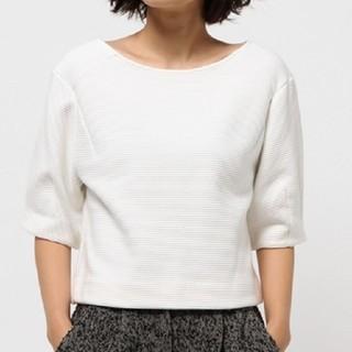ルシェルブルー(LE CIEL BLEU)の新品 白カットソー LE CIEL BLEU(カットソー(半袖/袖なし))