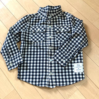 フタフタ(futafuta)のギンガムチェックシャツ 110cm(ブラウス)