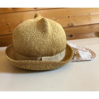 キッズズー(kid's zoo)の猫耳 帽子 ゴム 46cm キッズズー(帽子)