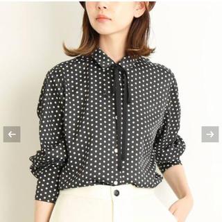 IENA - seseリボンタイドットシャツ