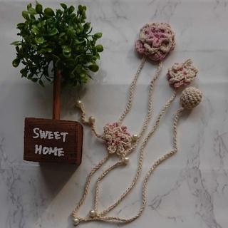 フェリシモ(FELISSIMO)のネックレス 手編み ワンポイント 首飾り(ネックレス)