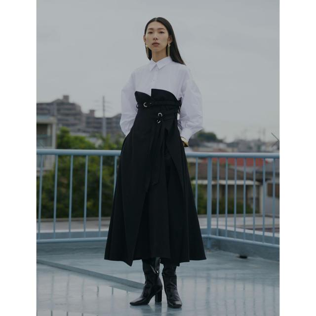 Ameri VINTAGE(アメリヴィンテージ)の【即日配送可】AMERI  MILLEFEUILLE SHIRT DRESS レディースのワンピース(ロングワンピース/マキシワンピース)の商品写真