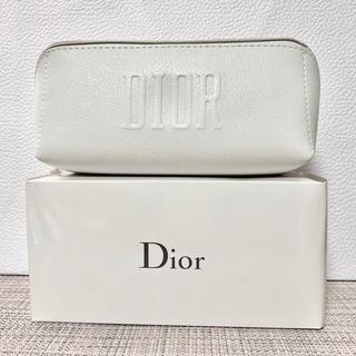Dior - 【新品】Dior ディオール 2020年 スクエア ホワイト ポーチ