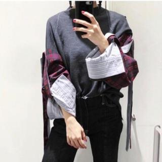 ルシェルブルー(LE CIEL BLEU)のIRENE  Rollup Sleeve Knit  ニット アイレネ  (ニット/セーター)