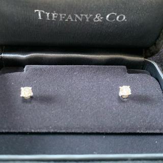 Tiffany & Co. - ティファニー  ソリティア ダイヤモンドピアス片耳0.23ct 両耳0.46ct