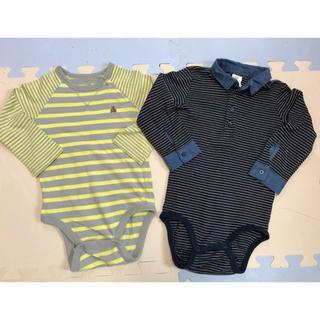 エイチアンドエム(H&M)の男の子 長袖ロンパース 90size  2枚セット(Tシャツ/カットソー)