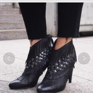 アッシュ(ASH)の【BLACK SWAN】BL フリンジショートブーツ(ブーツ)