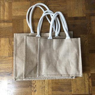 ムジルシリョウヒン(MUJI (無印良品))の無印 ジュートバッグ ジュートマイバッグ 3枚セット(エコバッグ)