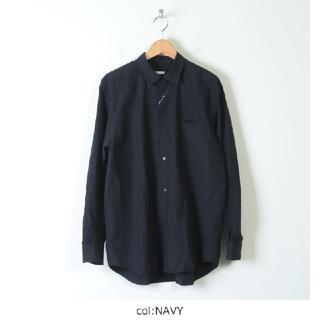 COMOLI - 18SS 新品 COMOLI コモリシャツ 紺 サイズ2