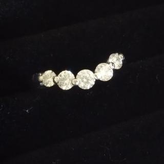 大粒 ダイヤモンド プラチナ リング