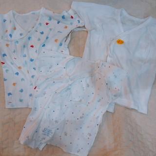 ミキハウス(mikihouse)の新生児 肌着 ミキハウス バースデー ファミリア 50~60(肌着/下着)