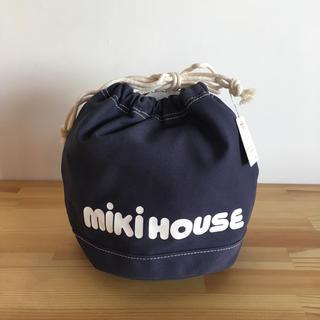 ミキハウス(mikihouse)の【mikihouse】キャンバス生地 巾着 小物入れ(ポーチ)