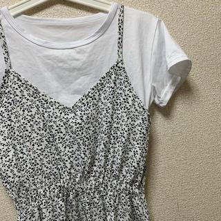 グレイル(GRL)の【中古品】GRL Tシャツ×花柄キャミワンピース(ロングワンピース/マキシワンピース)