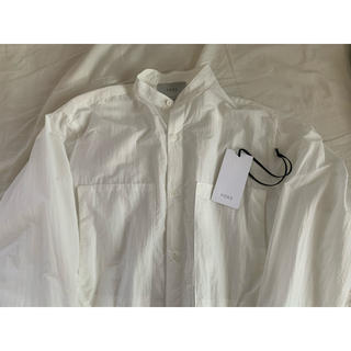 COMOLI - yoke band collar long shirt  20ss 値下げ可